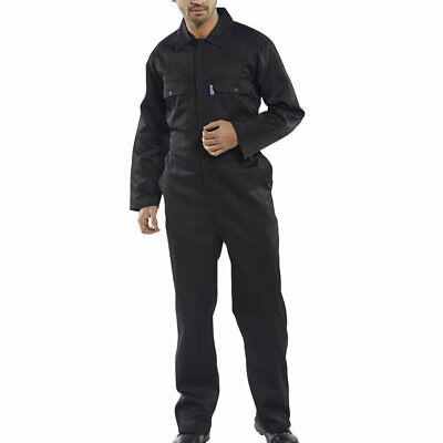 Click Mens Ladies Boilersuit Coverall Overall Workwear Work Navy Black Royal