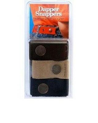 Dapper Snapper Adjustible Belts for Toddlers Babies Set of 3 Black, Navy, Beige