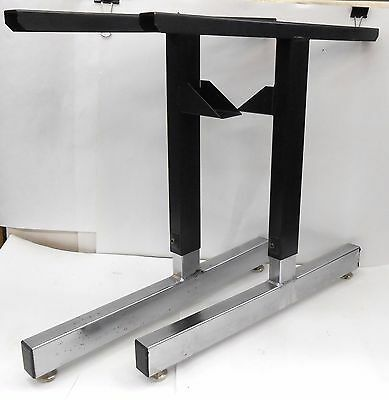 """Adjustable Height Table Legs, For 20"""" To 30"""" Working Surfaces, Set Of 2"""