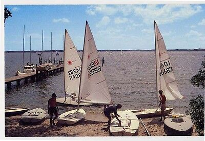 DELTAVILLE VA Laser Sailboats Jackson Creek Fishing Bay at Yacht Club postcard