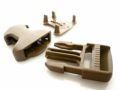 """1"""" / 25mm ITW Nexus Coyote Tan 3 Piece Surface Mount Buckle - Military Grade"""