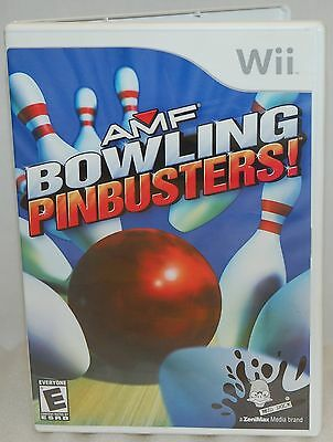 SEALED NEW Nintendo Wii AMF Bowling Pinbusters! Video Game Unique Minigames bowl