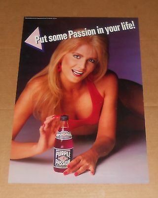Everclear Purple Passion Put Some Passion in Your Life Poster 22x15 Pin-Up Girl