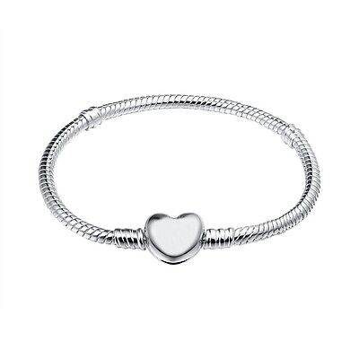 Love Buckle Bracelet chains bangle Fit 925 Silver Sterling European charms Bead