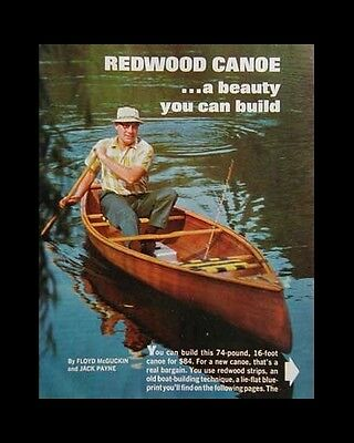 13' or 16' Canoe Strip Wood Redwood How-To build PLANS
