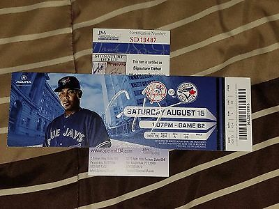 Greg Bird Signed 1St Mlb Hit Season Baseball Ticket Stub Jsa Coa Rookie Graph
