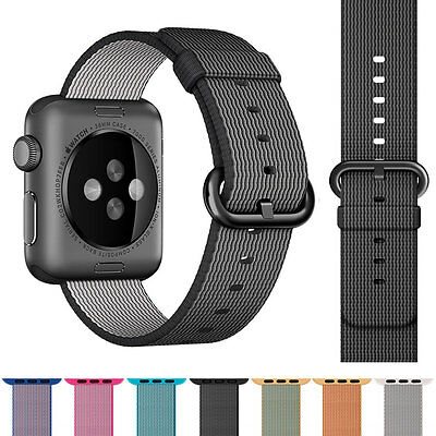 Replacement Sports Woven Nylon Wrist Band Strap Bracelet For Apple Watch 42mm