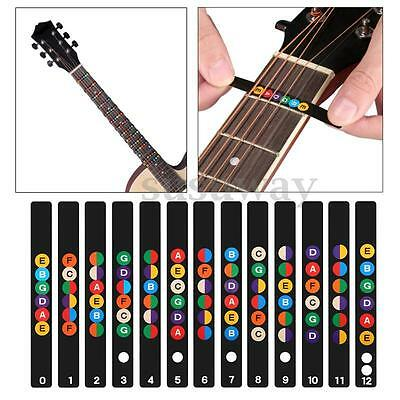 Guitar Fretboard Note Lable Stickers Fret Map Decals Learn Fingerboard Neck Note