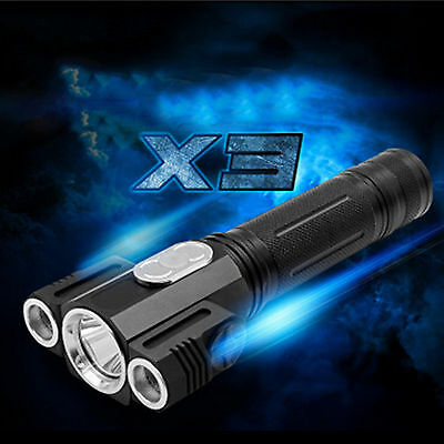 6000LM Zoomable T6 LED Flashlight Torch Super Bright Light function flashlight