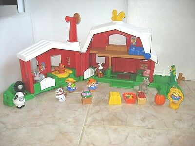 Little People Fisher Price Ferme Sonore Animaux 10 Personnages + Accessoires