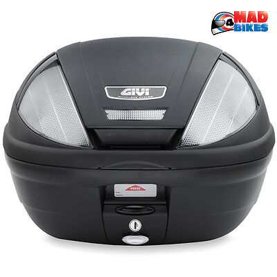 Givi E370  NT Tech Motorcycle Scooter Top Box Luggage Case 39L Free Base Plate