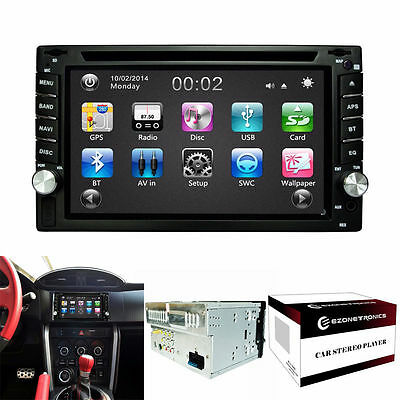 Car DVD GPS Navigation 2DIN Stereo Radio GPS Bluetooth USB/SD Universal Player