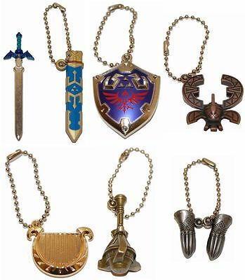 Kyodo The Legend of Zelda Link Skyward Sword Metal Equiment Key chain Set of 6