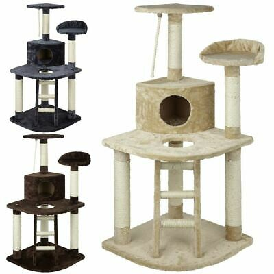 Large Cat Kitten Tree Activity Centre Scratch Scratching Post Climbing Toy Bed