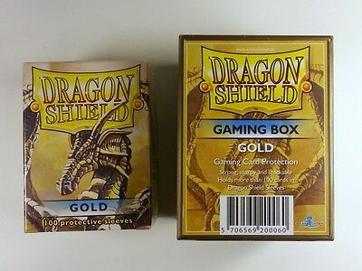 Dragon Shield BUNDLE - Gaming Box + 100 Sleeves - Farbe: Gold