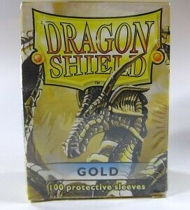 100 Dragon Shield Card Sleeves / Hüllen (Gold)