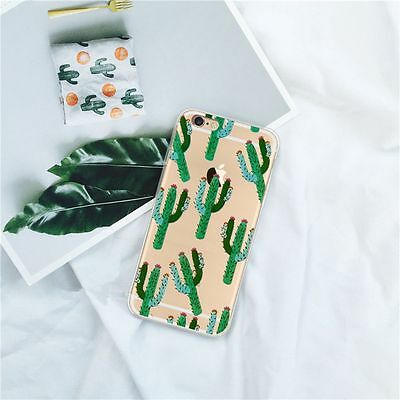 Cactus Ultra Thin TPU Silicone Phone Case Shockproof Cover Shell for iPhone 7 7+