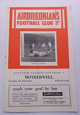 AIRDRIEONIANS v. MOTHERWELL SCOTT1SH LEAGUE ONE 1962 BROOMFIELD PARK