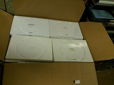74 x USED WHITE Single DVD Cases - 14mm Spine - CD DVD Bluray