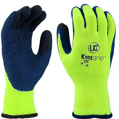 Kool Grip Latex Thermal Gloves Size 10 XLarge XL Cold Protective Fishing Gloves