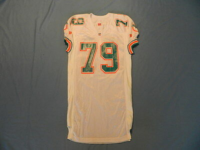Larry Webster circa 1992 Miami Dolphins game used jersey autographed
