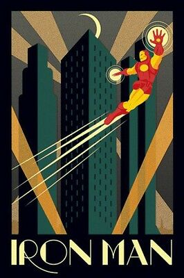 Iron Man - Marvel Comics Art Deco Vintage Retro Poster Plakat (91x61cm) #79167