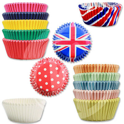 PME Mini Baking Cases 35mm Cupcakes Greaseproof White Colourful Patterned