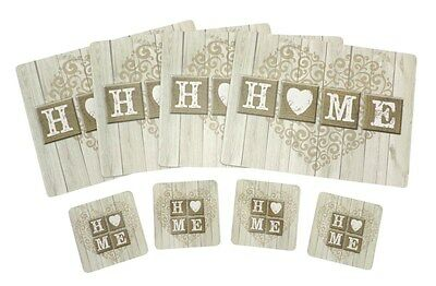 'HOME' Table Placemat Settings Place Mat Coasters Serving Mats Dining Eating