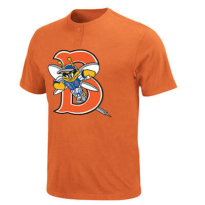 New York Mets MLB Affiliate - Binghamton Mets Adult MiLB 2 Button T-shirt
