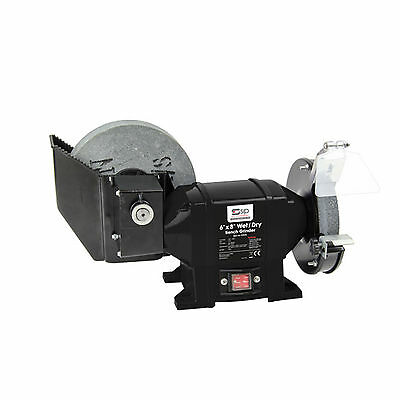 SIP 07576 6 x 8 Wet and Dry Stone Bench Grinder 0.5Hp 375W Motor 240V 13amp