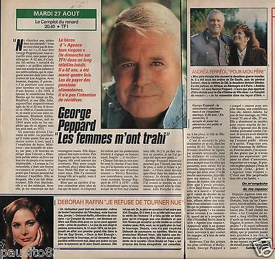 Coupure de presse Clipping 1991 George Peppard   (1 page 1/2)