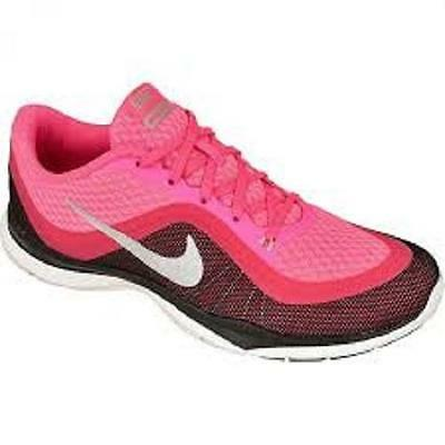 Women's NIKE FLEX TRAINER 6 Black/Pink Athletic Casual Sneakers Shoes NEW