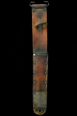 US WW II BARWOOD 1943 M6 SCABBARD for M3 Trench Knife -Fighting/WW2/Collection