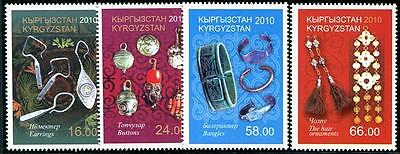 KYRGYZSTAN Sc.# 364-67 Silver Jewelry Stamps