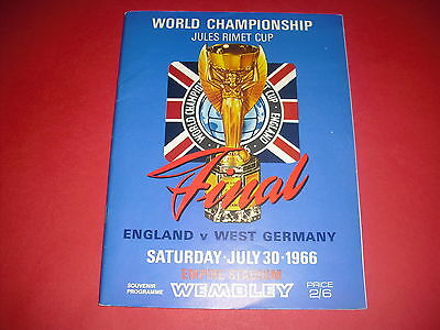 1966 World Cup Final England V West Germany Official Programme *original*