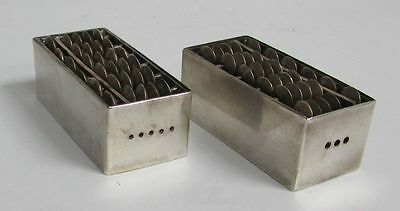 Japanese Sterling Silver Abacus Salt And Pepper Shaker