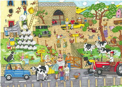 The House Of Puzzles - 1000 PIECE JIGSAW PUZZLE - Funny Farm Cartoon