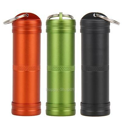 Outdoor Survival EDC Waterproof Capsule Seal Bottle Case Container Holder Tool