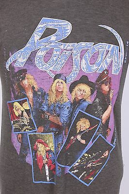 Vtg Poison Open Up And Say Ah Burnout Thin Rock T Shirt Usa Mens Large