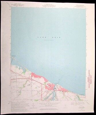 Huron Ohio Lake Erie Huron River vintage 1971 old USGS Topo chart