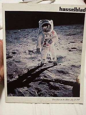 HASSELBLAD 500 EL/M Camera - MAN ON THE MOON PICTURE - ASTRONAUT VINTAGE AD