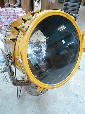 Vintage Electric Ship's VERY LARGE Light Lamp Yellow Wired with LED Japanese #42