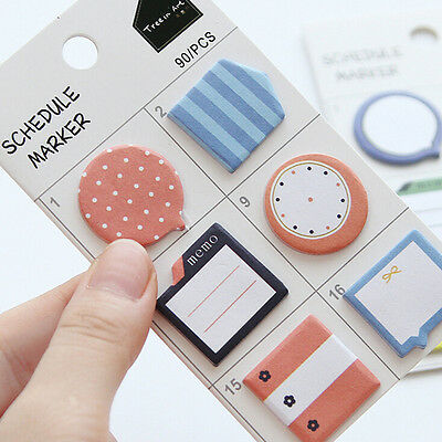 N Times Sticker Schedule Marker Instruction Attached Hand Shaped Supplies HU