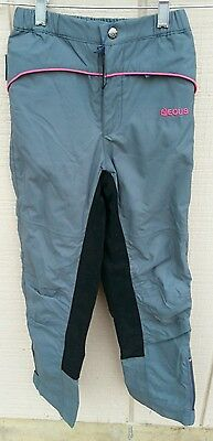 NWT EOUS $79 Kids MED Winchester Windproof Waterproof Riding Breeches Pants Navy