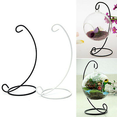 """23cm 9"""" Iron Plant Stand Holder for Clear Glass Hanging Vase Home Decor Top"""
