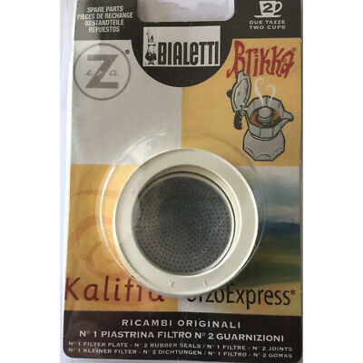 Bialetti - Filter and 2 rings Orzo Brikka Kaliffa 2 Cup Blister