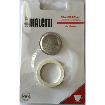 Bialetti - La Mokina - 1 Rubber Gasket and 1 Filter - Blister Packed