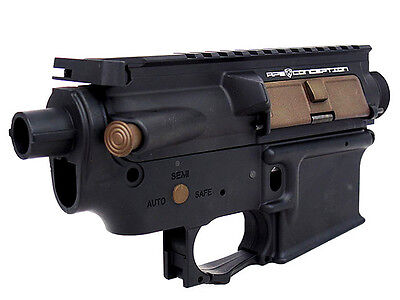 AS477 Airsoft Toy A.P.S Upper Lower Metal Body for M4A1 M-Series Black