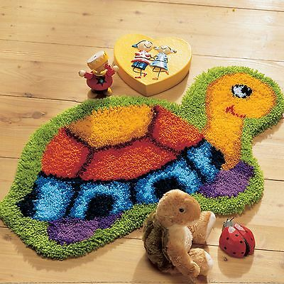 Vervaco Knotted Carpets Carpet shape ca.70x45 cm TURTLE Kinder knot yourself