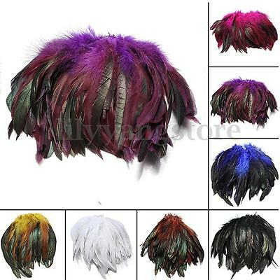 Beautiful 100pcs Rooster Tail Feather Fringe Decor 12-20cm / 5-8inch 9 Colors